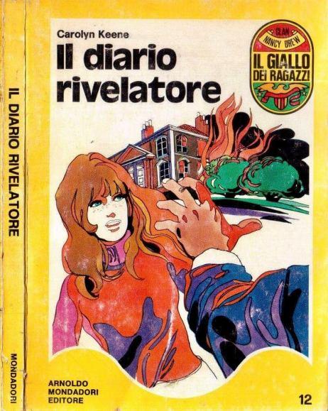 """Det italienska omslaget till """"Kitty och dagboksmysteriet"""", från 1971."""