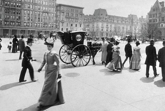 Bild från ett blomstrande New York, 1898 när Walter föddes.