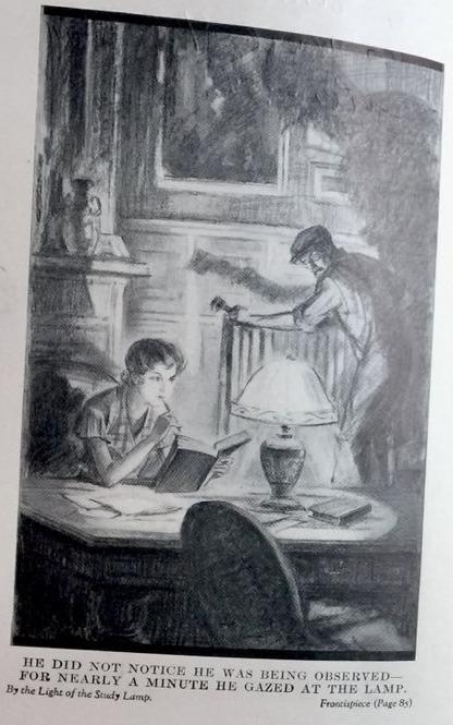 """Illistration från den amerikanska utgåvan av """"By the light of the study lamp"""""""