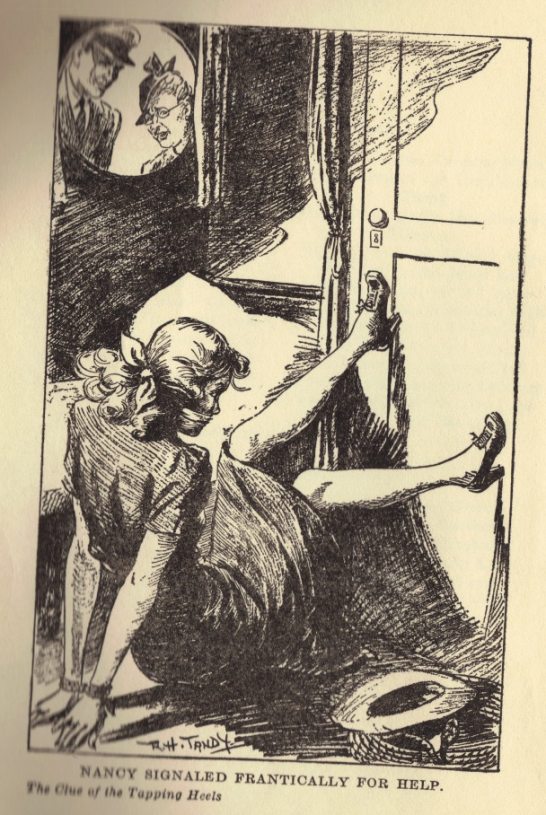Kitty blir tillfångatagen i en illustration