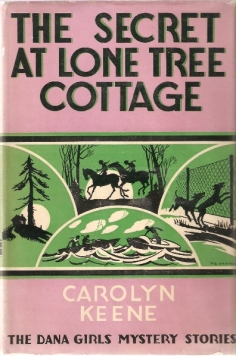 """Det ursprungliga amerikanska omslaget till boken, """"The secret at Lone Tree Cottage"""""""