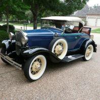 Blå Ford roadster