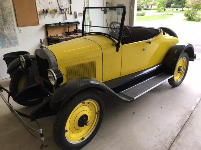 En gul sportbil från 1926.