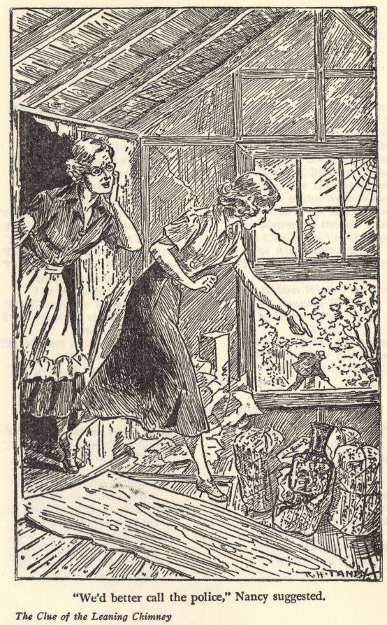 leaning chimney - illustration