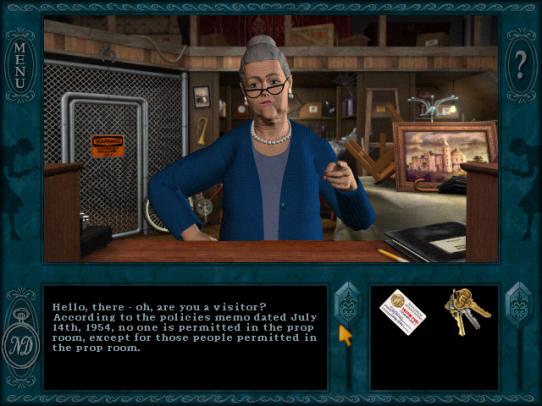 Millie är spelets bästa karaktär. En skön tant.