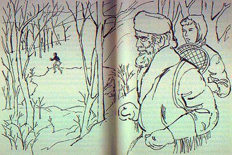 Illustration från den amerikanska versionen av boken.