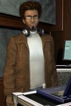 John tillsammans med sina spökregistrerarprylar.