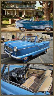 Nancys snygga blåa roadster.