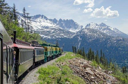 Tåg genom Yukon