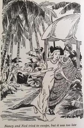 En illustration från den amerikanska versionen av boken.