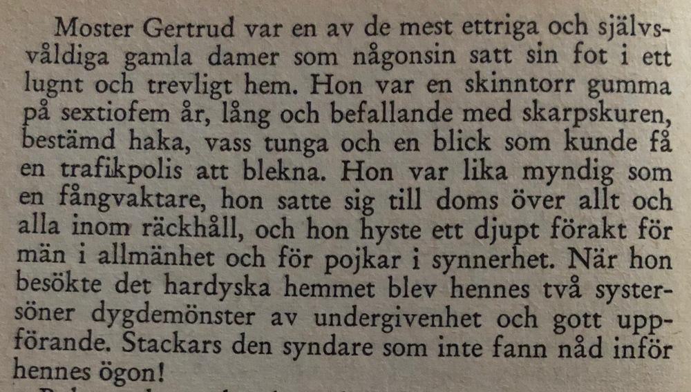 Beskrivning av Tant Gertrud