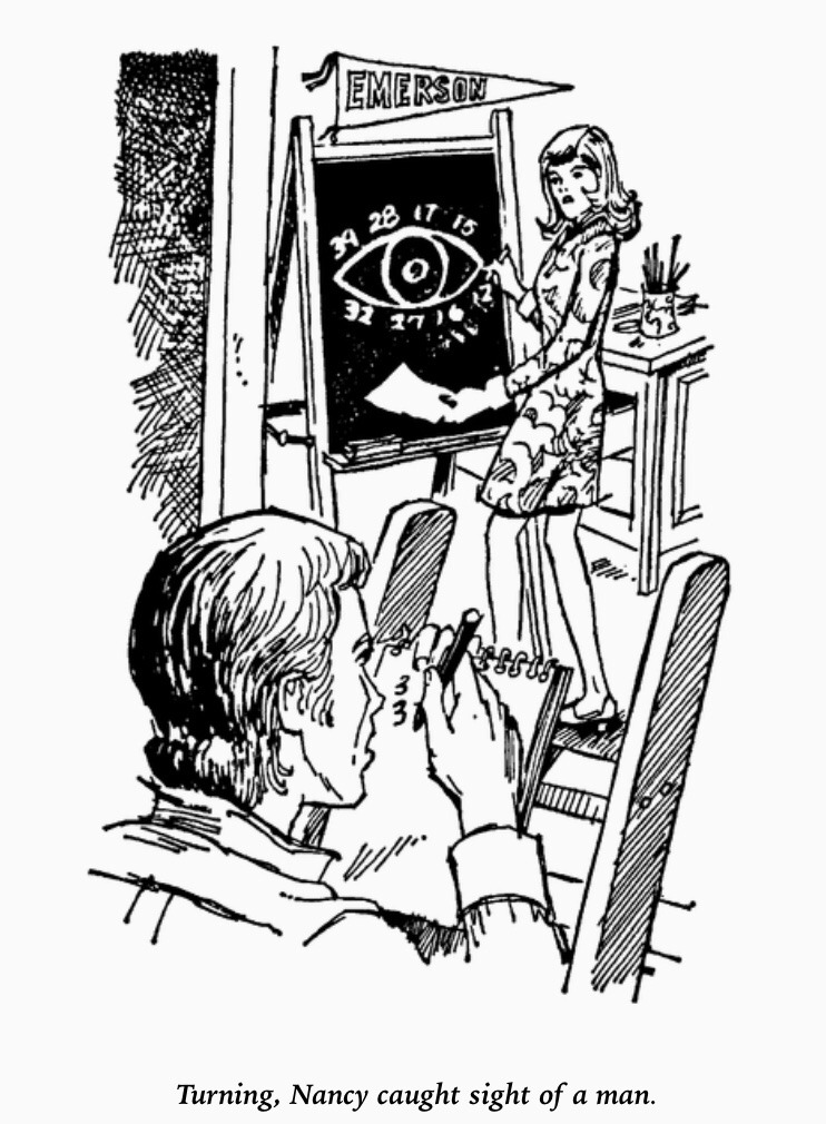 Mystery of the glowing eye - illustration