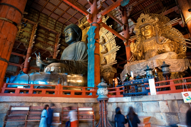 Great Buddha Hall of Tōdai-ji temple complex. Nara, Nara Prefecture, Kansai Region, Japan.