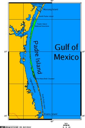 Padre_island map