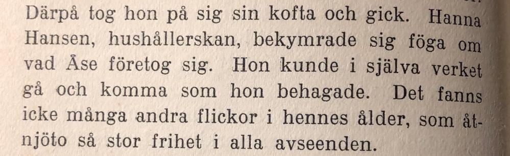 Hushållerskan Hanna Hansen.